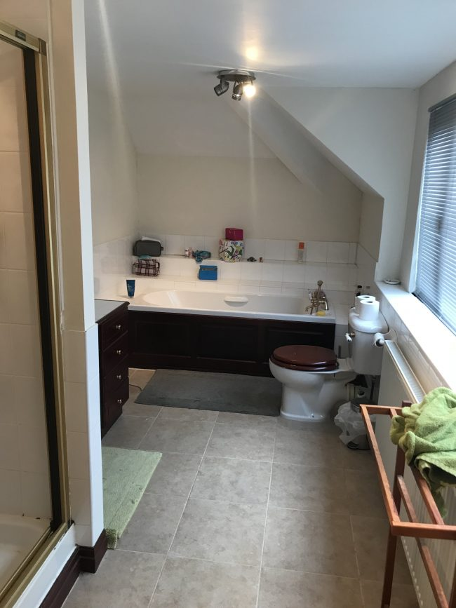 En Suite renovation in Cheshire - before