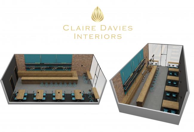 Claire Davies Interiors bar cad
