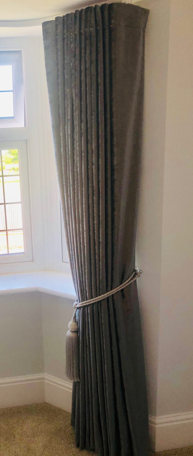 Claire Davies Grey with tassell 5 bedroom curtain-min